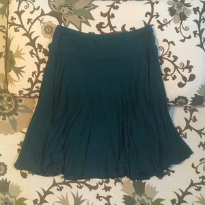 Coldwater Creek Flowy Teal Skirt Size M